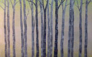 Arboles en primavera PinturadeCharlotte Adde  Compra arte en Flecha.es