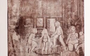 Un rato antes de llegar Velázquez|Obra gráficadeAna Valenciano| Compra arte en Flecha.es
