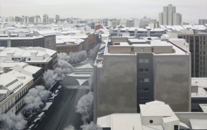 Madrid nevado|PinturadeBorja Abós| Compra arte en Flecha.es