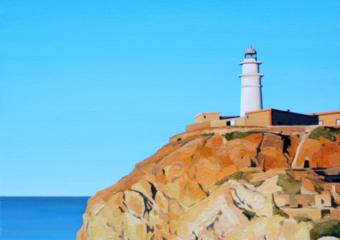 Faro de Cabo de Gata|PinturadeBorja Abós| Compra arte en Flecha.es