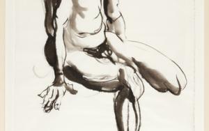 Con la Rodilla Doblada|DibujodeJaelius Aguirre| Compra arte en Flecha.es