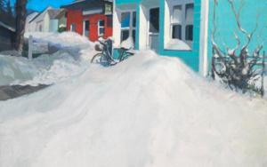 Amanece nevado|PinturadeOrrite| Compra arte en Flecha.es