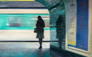 Pasando el tren|PinturadeOrrite| Compra arte en Flecha.es