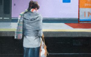 Mirando el móvil PinturadeOrrite  Compra arte en Flecha.es