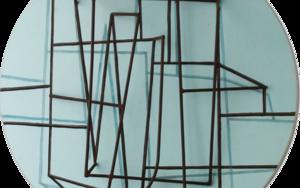 Constelación sobre azul|PinturadeManuel Sánchez-Algora| Compra arte en Flecha.es