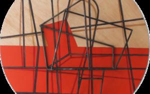 Costelación sobre rojo|Escultura de pareddeManuel Sánchez-Algora| Compra arte en Flecha.es