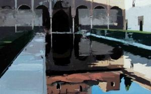 Luces y sombras en el patio de los Arrayanes PinturadeGonzalo Rodríguez  Compra arte en Flecha.es