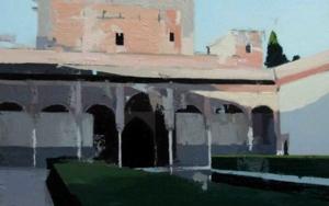Patio de Comares|PinturadeGonzalo Rodríguez| Compra arte en Flecha.es