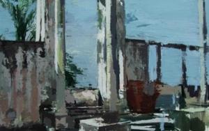 Patio de Diana Cazadora|PinturadeGonzalo Rodríguez| Compra arte en Flecha.es