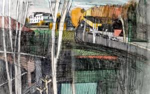 Aravaca, en otoño.|CollagedeEugenio Vega| Compra arte en Flecha.es