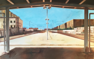 Vallecas Renfe|PinturadeAdriana Berges| Compra arte en Flecha.es