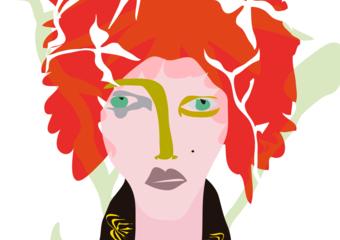 El chico colorado|DibujodeMariana sanz POPNTOPMAD| Compra arte en Flecha.es
