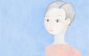 Mujer de camisa naranja|DibujodeLola Barcia Albacar| Compra arte en Flecha.es