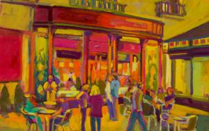 Blue Margarita|PinturadeJosé Bautista| Compra arte en Flecha.es