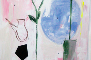 Plants, Jug and Some Other Things on Pink|PinturadeAlmudena  Blanco| Compra arte en Flecha.es