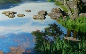 Lago de Sanabria PinturadeTomás Guzmán  Compra arte en Flecha.es