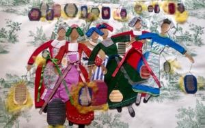 Chicas y Farolillos|CollagedeRuth Álvarez| Compra arte en Flecha.es