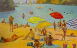 Cala menorquina|PinturadeJosé Bautista| Compra arte en Flecha.es