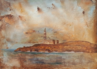 Faro de los ahorcados|PinturadeMiguel Ángel García López| Compra arte en Flecha.es