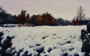Paisaje Nevado|PinturadeTomás Guzmán| Compra arte en Flecha.es