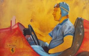 Piloto y coche de carreras|PinturadeMiguel Ángel García López| Compra arte en Flecha.es
