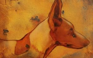 Cabeza de podenco n°22|PinturadeMiguel Ángel García López| Compra arte en Flecha.es