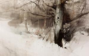 Troncos en la nieve|PinturadeFrancisco Castro| Compra arte en Flecha.es