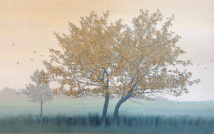 Paisaje en verdes|PinturadeCharlotte Adde| Compra arte en Flecha.es
