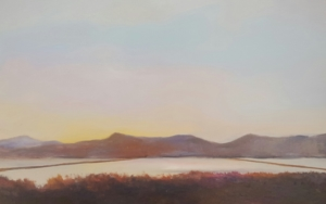 Puesta de sol en salinas|PinturadeMiguel Ángel García López| Compra arte en Flecha.es