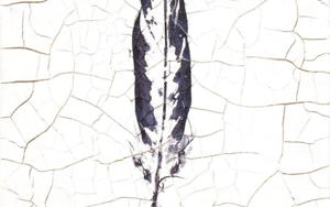 Huella de pluma I|Escultura de pareddeMacarena Garví| Compra arte en Flecha.es
