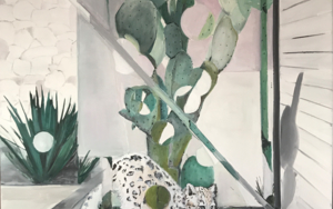 Leopardo de las nieves|PinturadeMarta Albarsanz| Compra arte en Flecha.es
