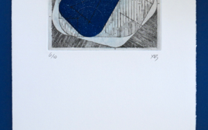 Bisectrices - Azul|Obra gráficadeXimena Bianco| Compra arte en Flecha.es