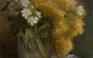 Vaso con mimosas|DibujodeCharo Mirat| Compra arte en Flecha.es