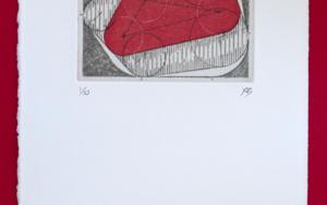Bisectrices - Rojo|Obra gráficadeBianco Ximena| Compra arte en Flecha.es