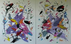 Ain't No Cure for Love (Díptico)|PinturadeValeriano Cortázar| Compra arte en Flecha.es