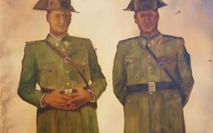Pareja de la Guardia Civil|PinturadeMiguel Ángel García López| Compra arte en Flecha.es