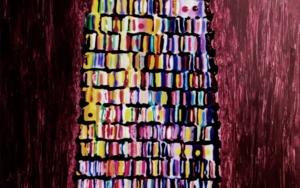 Torre de Babel granate|PinturadeYanespaintings| Compra arte en Flecha.es