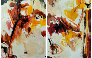 estudio rápido de un mismo movimiento 4 (díptico)|DibujodeLucía Rojo| Compra arte en Flecha.es