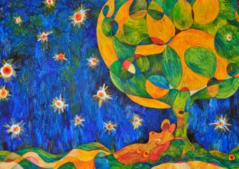 la nit de les ànimes - la noche de las almas|PinturadeRICHARD MARTIN| Compra arte en Flecha.es