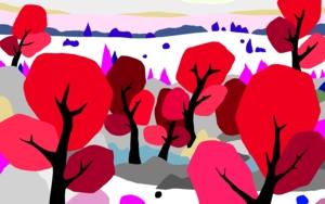 Árboles rojos|DigitaldeALEJOS| Compra arte en Flecha.es