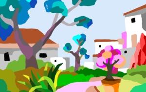 Casas blancas|DigitaldeALEJOS| Compra arte en Flecha.es