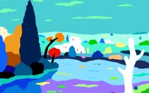 Casas en el lago|DigitaldeALEJOS| Compra arte en Flecha.es