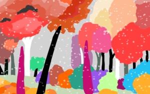 Nieve de confetti|DibujodeALEJOS| Compra arte en Flecha.es