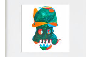 la calavera simpatica|IlustracióndeRICHARD MARTIN| Compra arte en Flecha.es