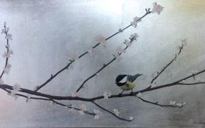 Almendro en flor III|PinturadeCharlotte Adde| Compra arte en Flecha.es