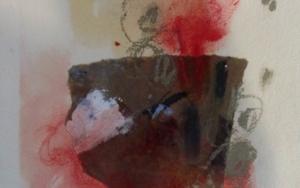 Flor roja|CollagedeEdurne Gorrotxategi| Compra arte en Flecha.es