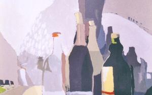 Botellas y naranjas|PinturadeJavier AOIZ ORDUNA| Compra arte en Flecha.es
