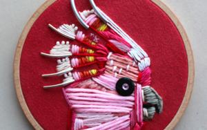 Cacatúa rosa.|EsculturadeÁngeles Romo| Compra arte en Flecha.es