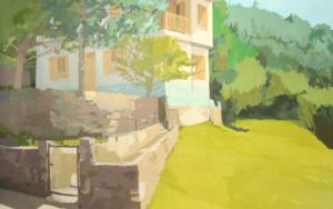 Un verano en Roncal|PinturadeJavier AOIZ ORDUNA| Compra arte en Flecha.es