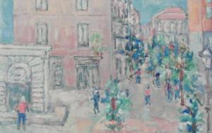 Calle deHuertas|PinturadeGuillermo Serrano de Entrambasaguas| Compra arte en Flecha.es